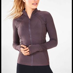 Fabletics Delta Seamless Zip Up Jacket Purple L
